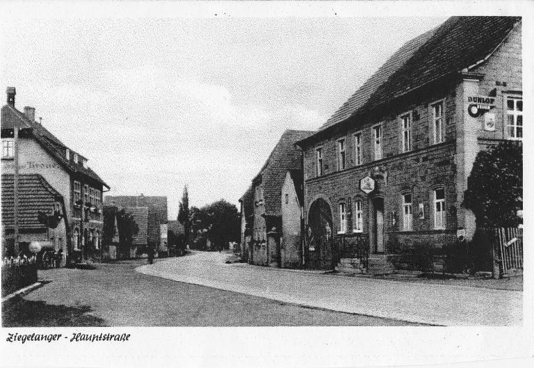 Die Ziegelangerer Hauptstraße in alten Tagen