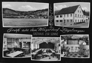 Postkarte mit 'Grüßen aus dem Weindorf Ziegelanger'